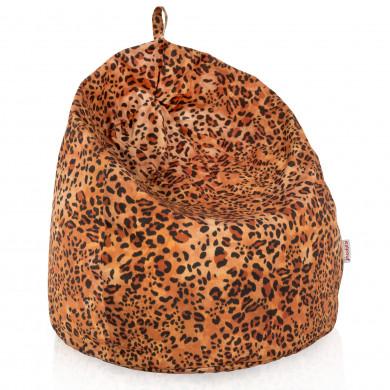 Pouf sacco leopardo