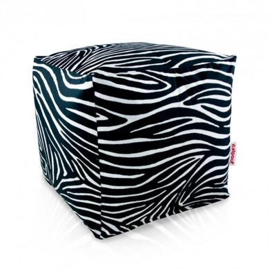 Pouf zebrato cubo sfoderabile