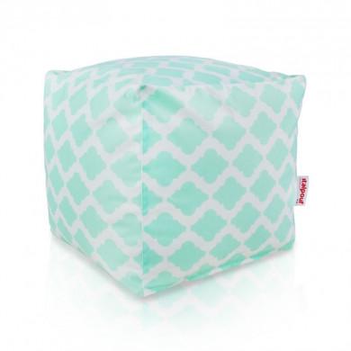 Pouf orientale cubo tessuto