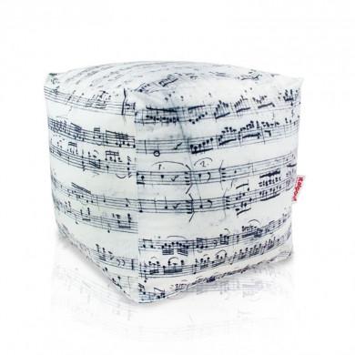 Pouf poggiapiedi musica cubo