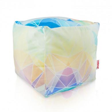 Pouf moderno astratto pastello cubo