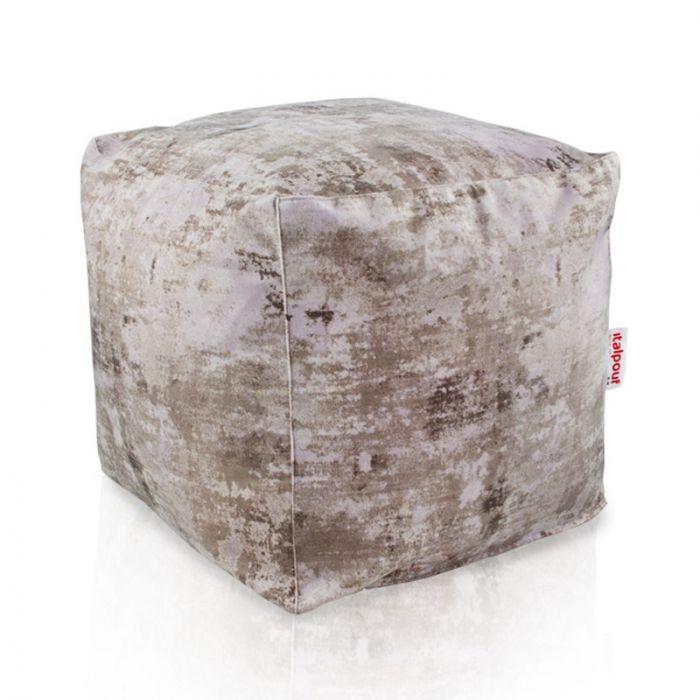 Pouf salotto marmo cubo