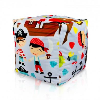 Pouf per bambini pirata cubo