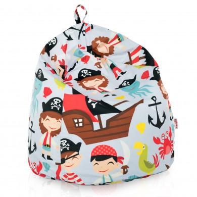 Pouf sacco per bambini pirata