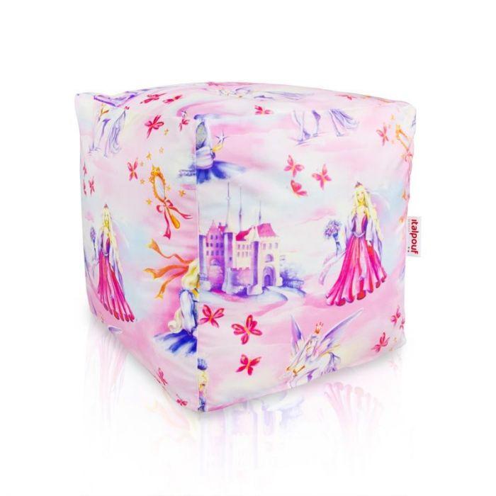 Pouf princess cubo per bambini