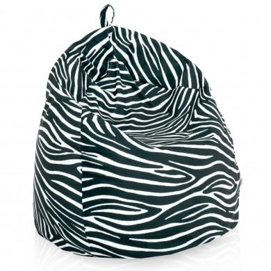 Pouf sacco zebrato