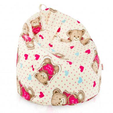 Pouf sacco per bambini orsetto