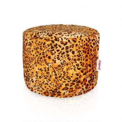 Pouf leopardo cilindro tessuto