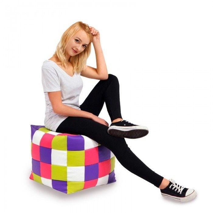 Pouf cubo patchwork