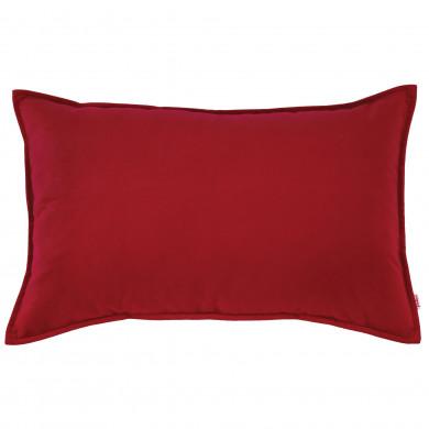 Cuscino Arredo Rosso Rettangolare Peluche