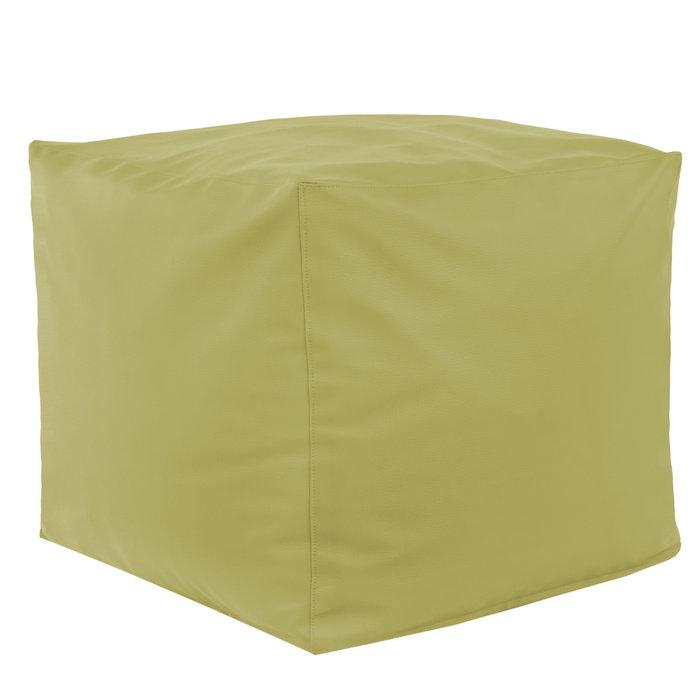 Pouf Cubo.Pouf Cubo Moderno Da Salotto Pouf In Ecopelle Oliva Comodo E Sicuro
