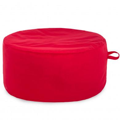 Rosso Pouff Tessuto Morbido Moderno