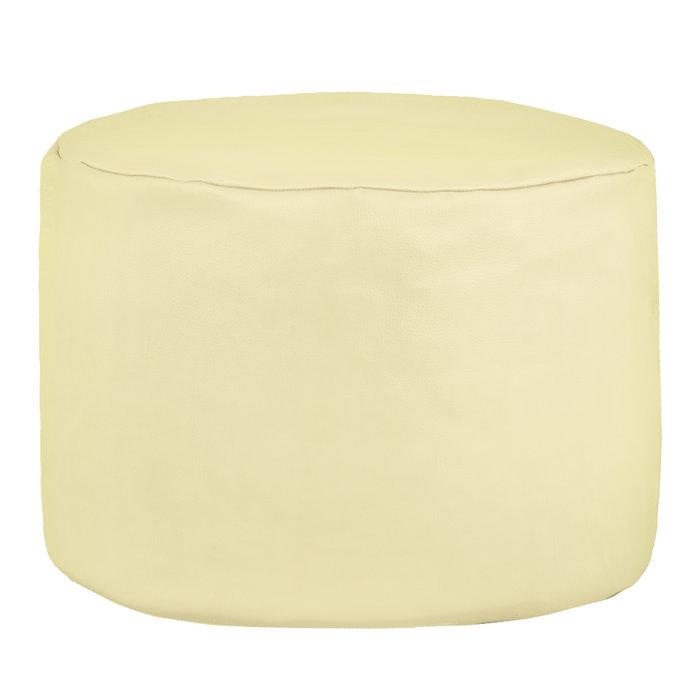 /Pouf a pera in ecopelle 37/x 37/cm 37 x 37 cm beige