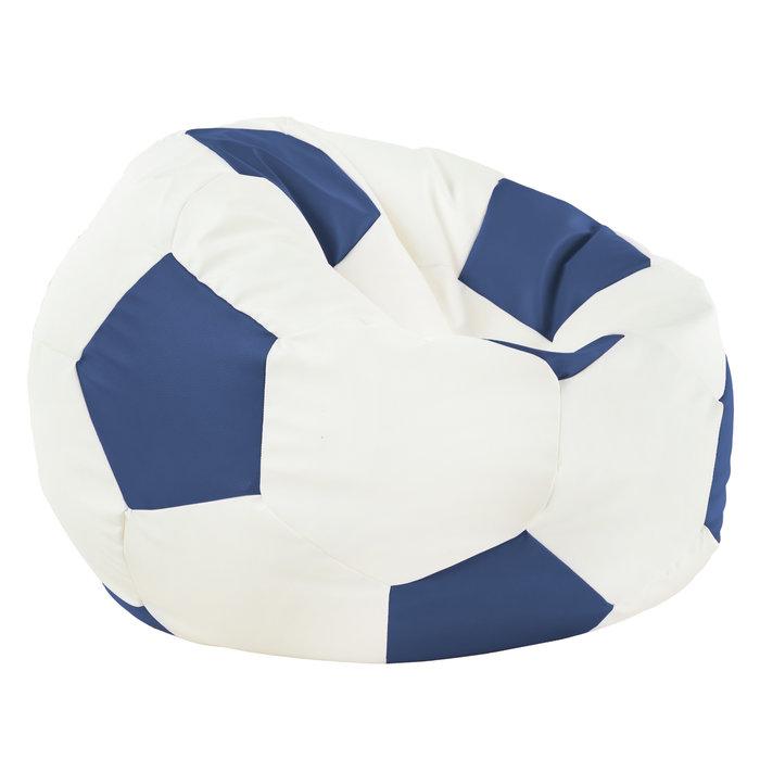 Blu Pouf Calcio Ecopelle Moderno