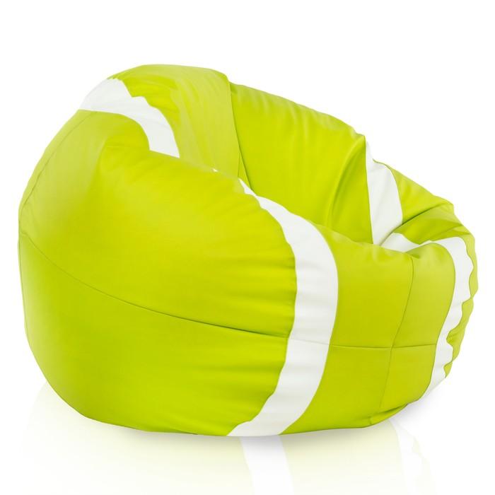 Verde lime Pouf Grande Tennis Ecopelle Classico