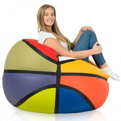Pouf basket colorato