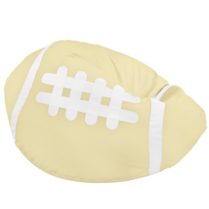 Crema Pouf Pallone Rugby Ecopelle