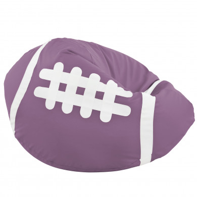 Viola Pouf Pallone Rugby Ecopelle Per Ragazze