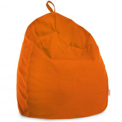 Arancione Pouf Sacco Bambini Morbido Tessuto