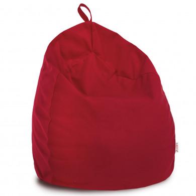 Rosso Pouf Sacco Bambini Morbido Pera