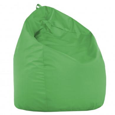 Pouf Sacco Pino Ecopelle Verde Seduta