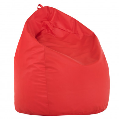 Pouf Sacco Rosso Ecopelle Moderno