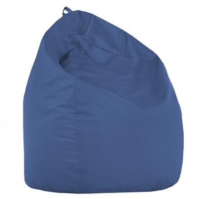 Pouf Sacco Blu Ecopelle Zaffiro