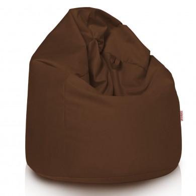 Pouf Sacco Seduta Cacao Tessuto