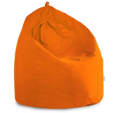 Pouf Sacco Morbido Arancione Tessuto