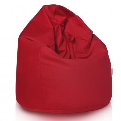 Pouf Sacco Poltrona Rosso Tessuto