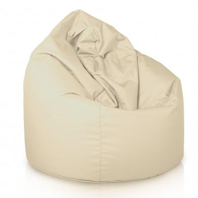 Pouf Sacco Crema Esterno Seduta Nylon