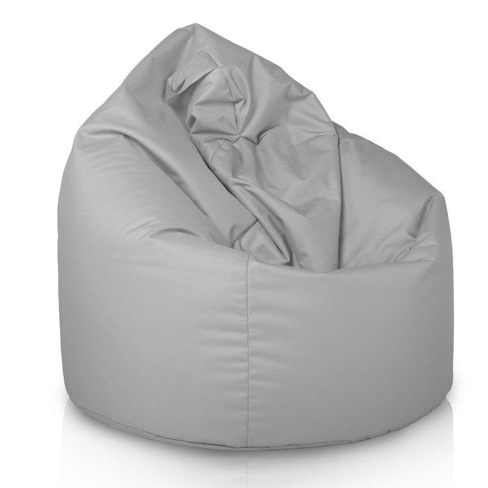 Pouf sacco fagiolo bigio da esterno. Poltrona pouf in nylon giardino