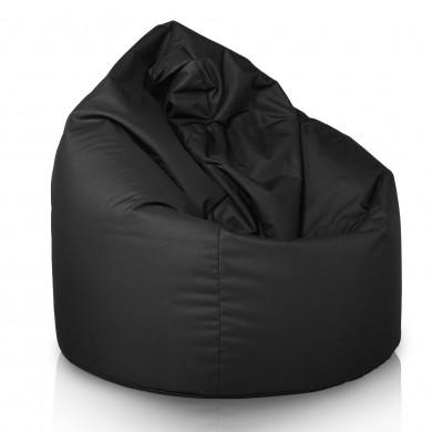 Pouf Sacco Nero Esterno Poltrona Nylon