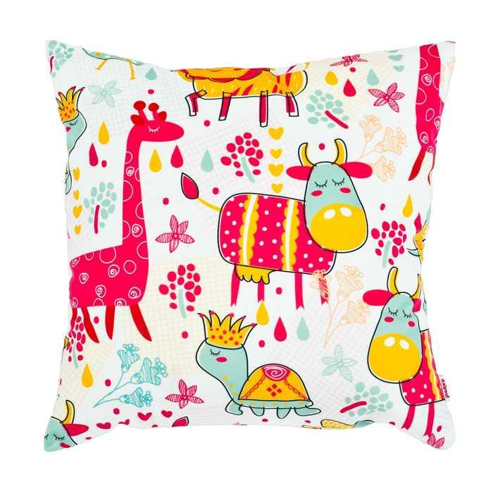 Cuscini Decorativi Per Bambini.Cuscino Per Bambini A Fantasia Cuscino Decorativo Animali Da Favole