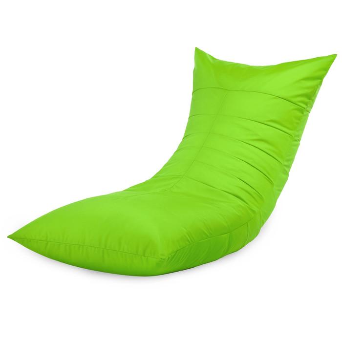 Sdraio da giardino verde acido in nylon. Poltrona pouf da balcone
