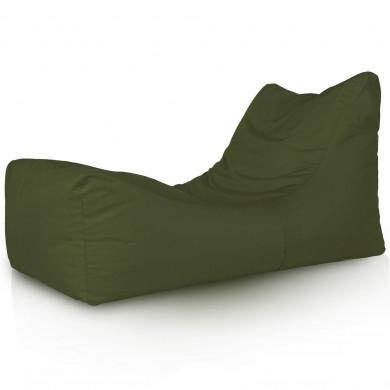 Verde Scuro Chaise Long Polistirolo
