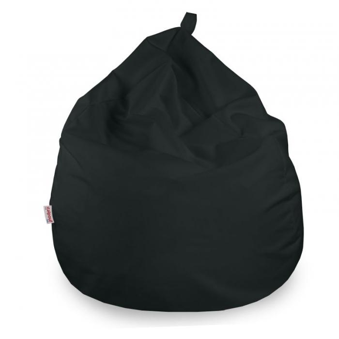 Poltrona pouf sacco grande in tessuto morbido. Pouf in microfibra