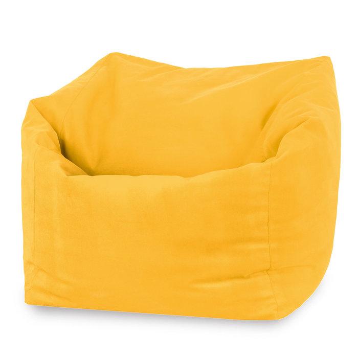 Pouf poltrona sacco XXL da esterno arancione. Pouf grande da giardino