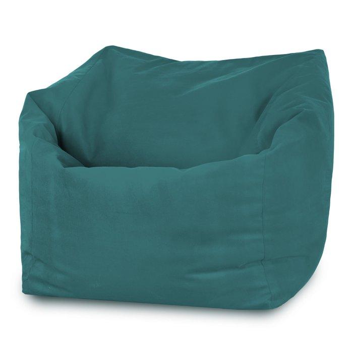 Pouf poltrona sacco grande da esterno. Pouf verde scuro da giardino