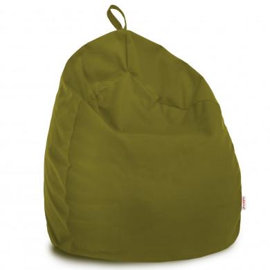 Verde Pouf Sacco Bambini Morbido Pera