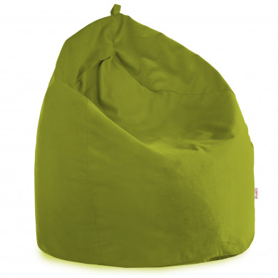 Pouf Sacco Poltrona Verde Velluto