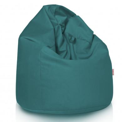 Pouf Sacco Poltrona Blu Velluto