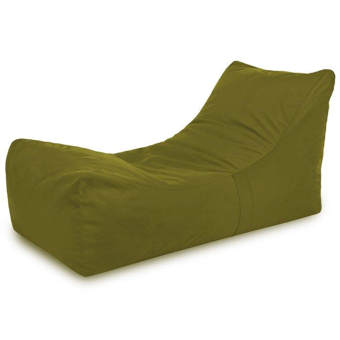 Poltrona letto in velluto verde morbido. Poltrona sdraio da soggiorno