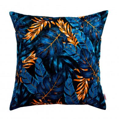 Cuscino Quadrato Foglie Blu